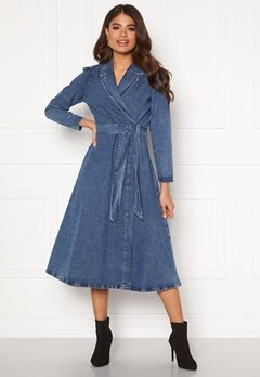 SELECTED FEMME Harper LS denim dress Medium Blue Denim Bubbleroom.se