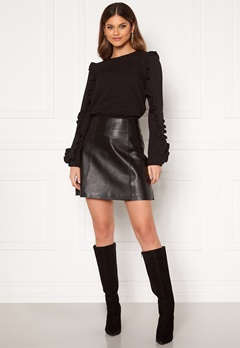 SELECTED FEMME Ibi Leather Skirt Black Bubbleroom.se