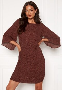 SELECTED FEMME Kinsley 3/4 Short Dress Smoked Paprika Bubbleroom.se