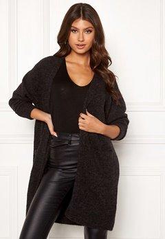 SELECTED FEMME Lanna LS Knit Cardigan Dark Grey Melange Bubbleroom.se