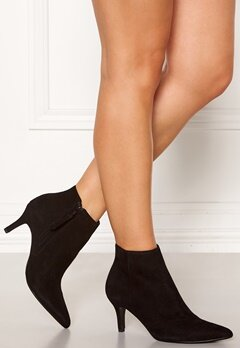 SELECTED FEMME Lea Suede Heel Boot Black Bubbleroom.se