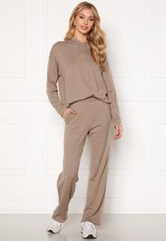 SELECTED FEMME Linka MW Long Knit Pant Sand Melange Bubbleroom.se