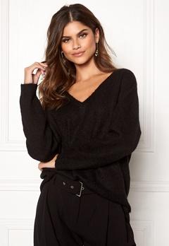 SELECTED FEMME Livana LS Knit V-neck Black Bubbleroom.se