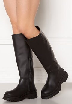SELECTED FEMME Lucy Leather Boot Black Bubbleroom.se