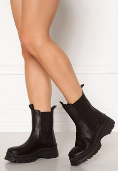 SELECTED FEMME Lucy Leather Chelsea Boot Black Bubbleroom.se