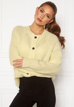 SELECTED FEMME Lulu LS Knit Cardigan Pastel Yellow Bubbleroom.se
