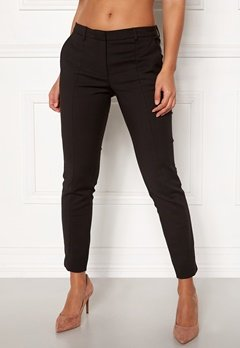 SELECTED FEMME Muse Fie Cropped MW Pant Black Bubbleroom.se