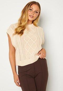 SELECTED FEMME Piper Knit Vest Birch Bubbleroom.se