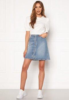 SELECTED FEMME Rose MW Denim Skirt Medium Blue Denim Bubbleroom.se