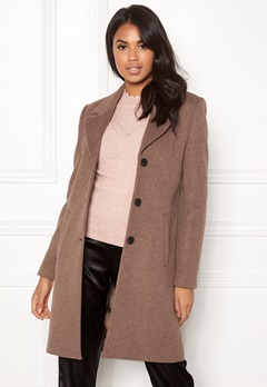 SELECTED FEMME Sasja Wool Coat Deep Taupe Melange Bubbleroom.se