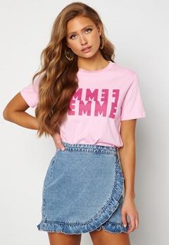 SELECTED FEMME Simi SS Tee Pink Lavender Bubbleroom.se