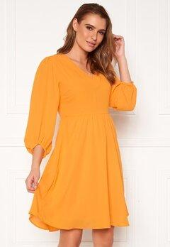 SELECTED FEMME Zix 3/4 Short Dress Radiant Yellow Bubbleroom.se