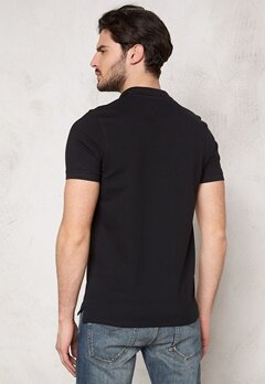 SELECTED HOMME Aro SS Embroidery Polo Black Bubbleroom.fi