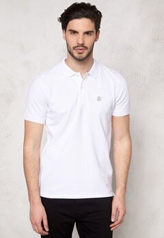 SELECTED HOMME Aro SS Embroidery Polo Bright White Bubbleroom.fi