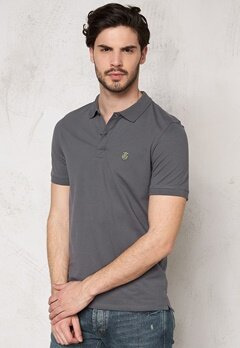 SELECTED HOMME Aro SS Embroidery Polo Iron Gate Bubbleroom.fi