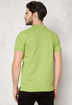 SELECTED HOMME Aro SS Embroidery Polo Leaf Green Bubbleroom.fi