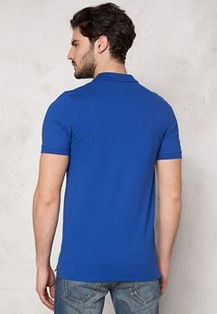 SELECTED HOMME Aro SS Embroidery Polo Monaco blue Bubbleroom.fi