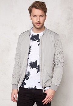 SELECTED HOMME Light Bomber Jacket Ghost Gray Bubbleroom.se