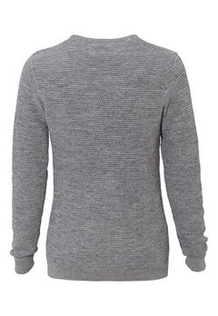 SELECTED HOMME New Vince Bubble Crew Medium Grey Melange Bubbleroom.fi