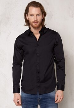 SELECTED HOMME One Travistbelfast Shirt Black Bubbleroom.fi