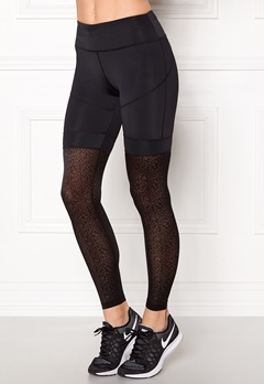 Shape Me Up Leopard Mesh Tights Black/Leopard Mesh Bubbleroom.dk