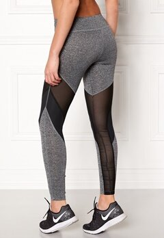 Shape Me Up Lo Mesh Tights Grey Melange / Black Bubbleroom.se