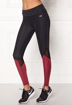 Shape Me Up Stella Tights Black/Burgundy Bubbleroom.se