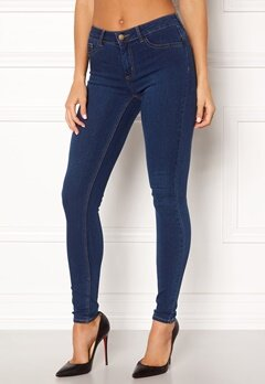 Pieces Shape-up Jeggings Dark Blue Denim Bubbleroom.se