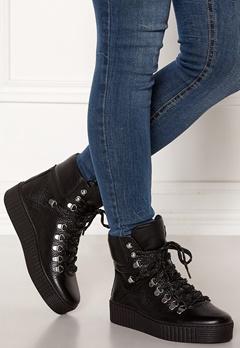 SHOE THE BEAR Agda Leather Shoe 110 BLACK Bubbleroom.se