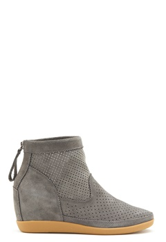 SHOE THE BEAR Emmy Suede Shoe 141 Dark Grey Bubbleroom.se