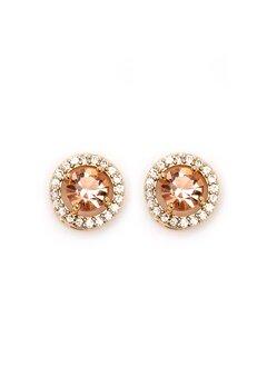 BY JOLIMA Sienna Crystal Earring Champagne Bubbleroom.se