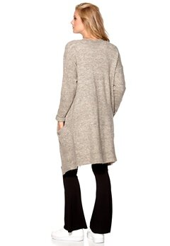 Sisters Point Anda Cardigan Grey/Sand melange Bubbleroom.fi