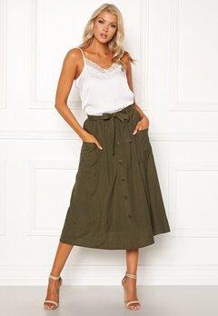 Sisters Point Bina Skirt 207 Khaki Bubbleroom.se