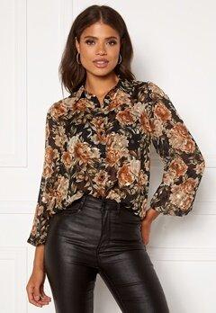 Sisters Point Ebbey Shirt 801 Black/Flower Bubbleroom.se