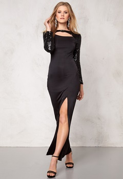Sisters Point Embra Dress Black/Black Bubbleroom.no