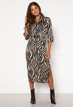 Sisters Point Eron Dress 1 Black/Camel Bubbleroom.se