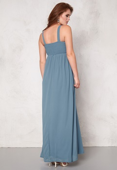 Sisters Point Galant dress Dusty Blue Bubbleroom.no