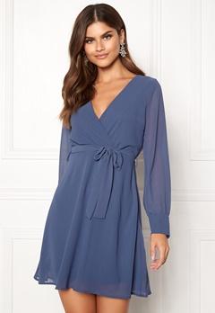 Sisters Point Gerdo Dress 050 Grey/Blue Bubbleroom.se