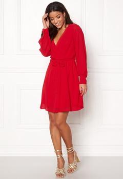 Sisters Point Gerdo Dress 500 Red Bubbleroom.se