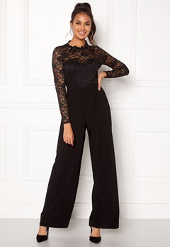 Sisters Point Gihi Jumpsuit Black/Black Bubbleroom.fi