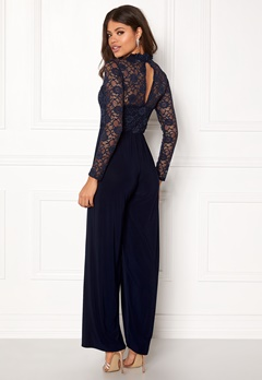 Sisters Point Gihi Jumpsuit Navy/navy Bubbleroom.fi