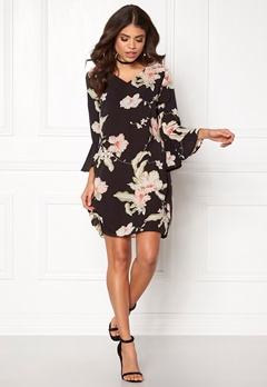 Sisters Point Glan-2 Dress Balck/Flower Bubbleroom.fi