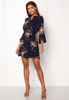 Sisters Point Glans-4 Dress Navy/flower Bubbleroom.fi