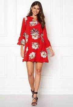 Sisters Point Glans-8 Dress 501 Red/Flower Bubbleroom.se
