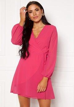 Sisters Point Gobbi Dress Hot Pink Bubbleroom.se