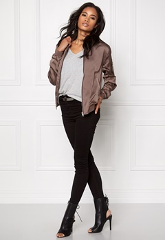 Sisters Point Goldie Bomber Jacket Grey/brown Bubbleroom.se