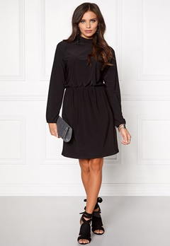 Sisters Point Gom Dress Black Bubbleroom.no
