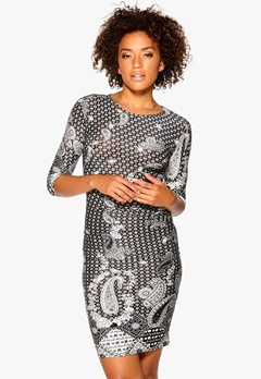 Sisters Point Guly Dress Black/Cream Bubbleroom.no