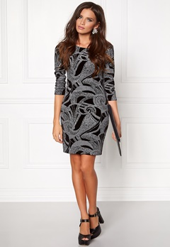 Sisters Point Gunila-3 Dress Black/Silver Bubbleroom.no