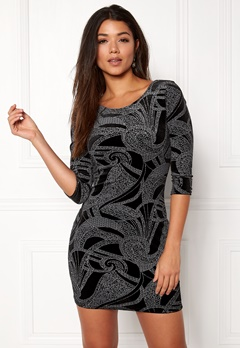 Sisters Point Gunila-3 Dress Black/Silver Bubbleroom.dk